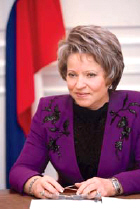 Matvienko requests the President of the resignation of the governor and asked about the trust