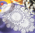 Oval doily with floral pattern
