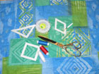 School Quilt. Lesson 2. Tools and materials