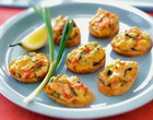 Cheese Canapes with smoked fish